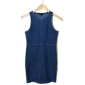 Forever 21 Sleeveless Jean Stretch Mini Dress